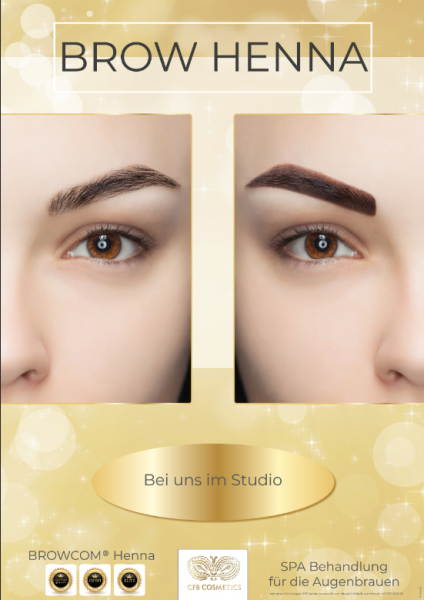Poster 7 Browcom® Henna Brows