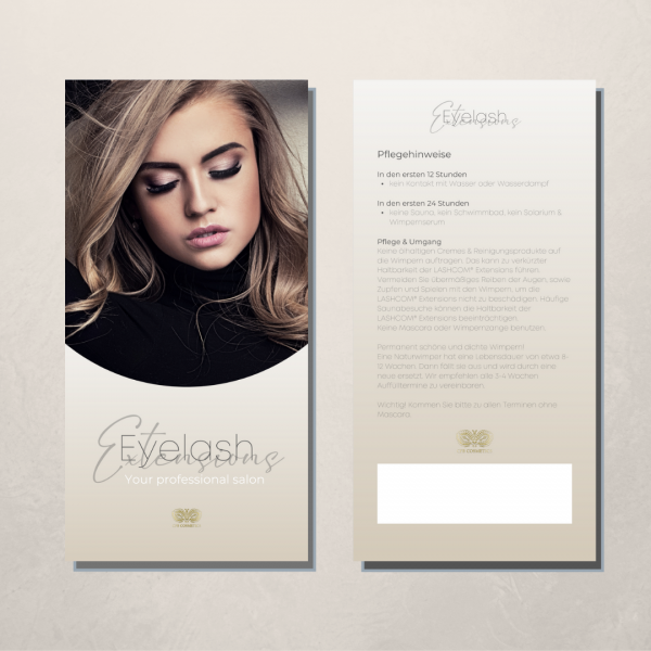 Eyelash extension flyer