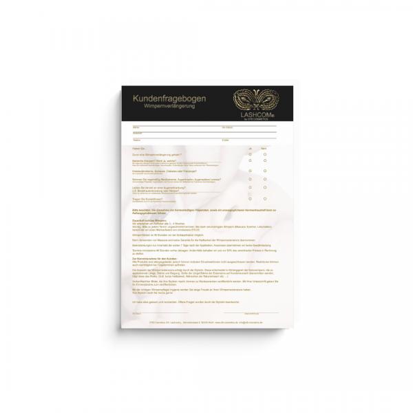 Kundenfragebogen | Wimpernverlängerung | 50 Blatt