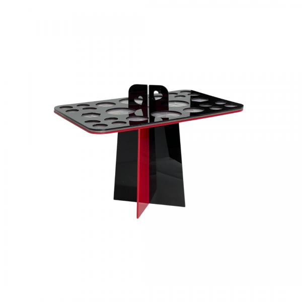 Pinzettenständer   X-Butler   eckig   groß   rot-schwarz