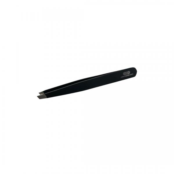 Professional Tweezers No. 7 - Eyebrow Tweezers - Black Edition