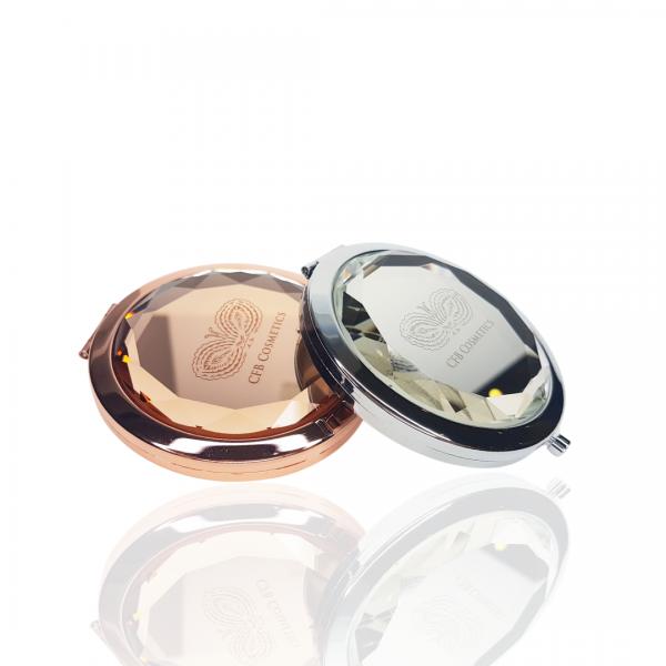 Taschenspiegel | rose / silber
