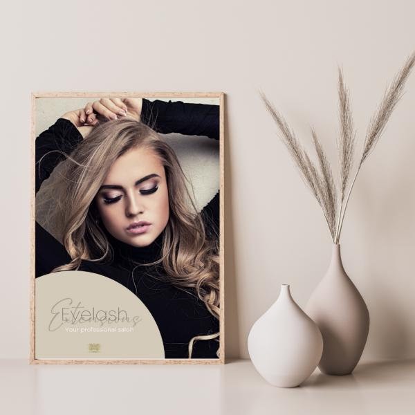 Poster Wimpernverlängerung | DIN A1