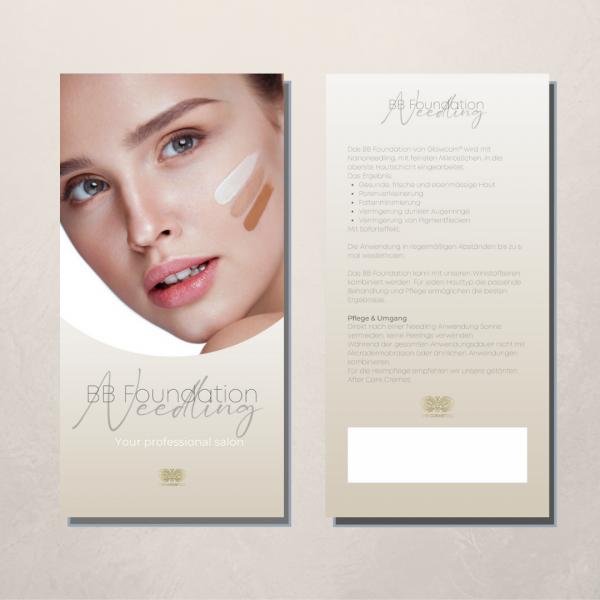 Flyer | Pfegehinweise | BB Foundation Needling | 50 Stück