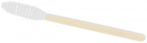 Mascara Bürste | Bamboo | weiß