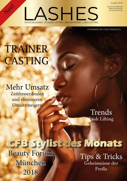 Lashes Magazin by CFB Cosmetics Ausgabe 1/2018 September
