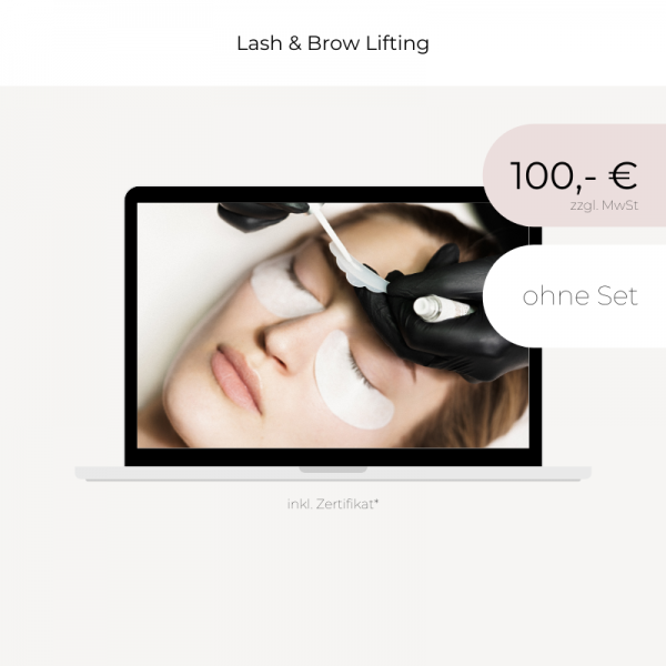 Online Schulung | Lash & Brow Lifting | ohne Set