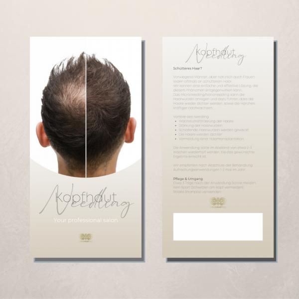 Flyer | Pfegehinweise | Kopfhaut Needling | 50 Stück